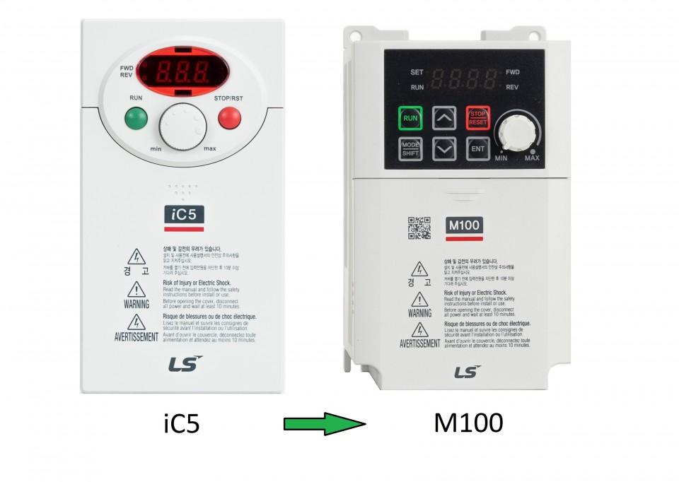 IC5 series frequency inverters will be replaced with M100 series