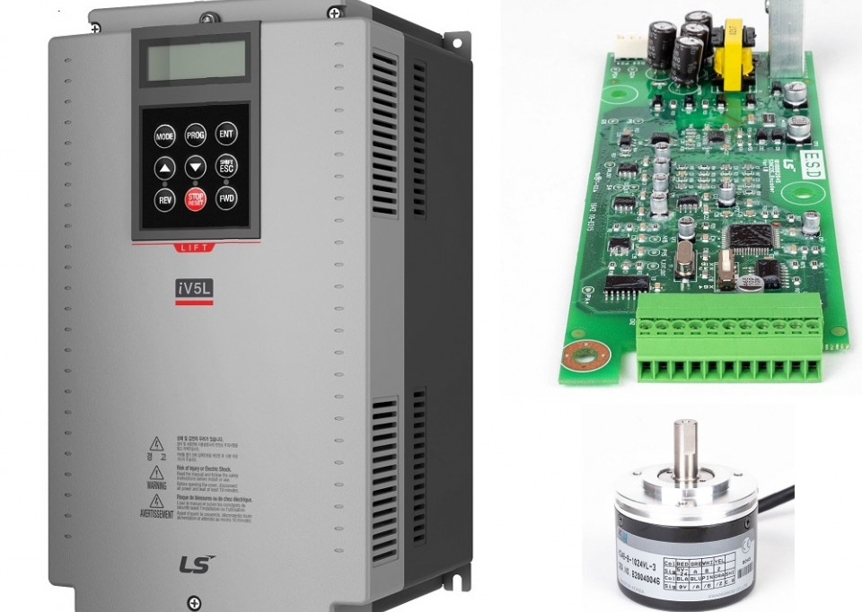 Affordable series of iV5l frequency inverters and accessories for use in elevators